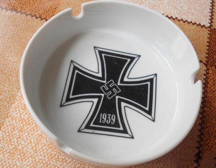 World War II Germany Ashtray cross  #39