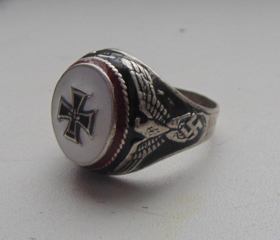 Knight's Cross Ring silver 800  #9