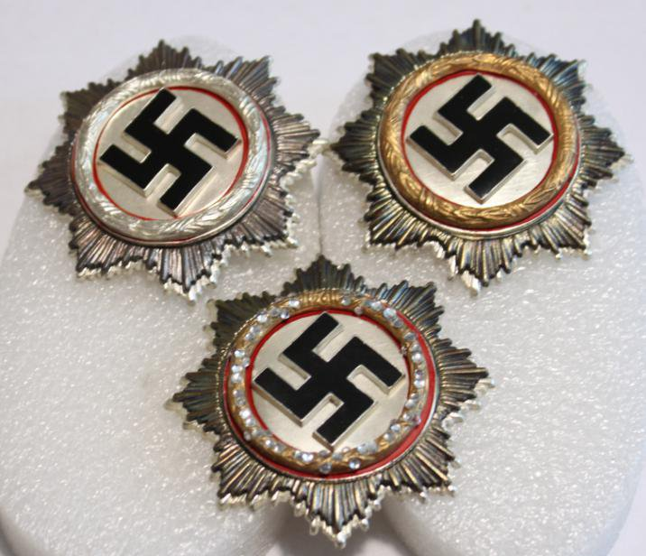WW II THE GERMAN BADGE LW WH Order of the Cross 3 pieces