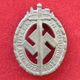 WW II THE GERMAN BADGE LW WH Medal Coburg