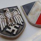 WW II THE GERMAN BADGE LW WH posters on cork helmet