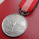 WWII THE GERMAN BADGE  The medal of the Olympic Games 1936 in Berlin