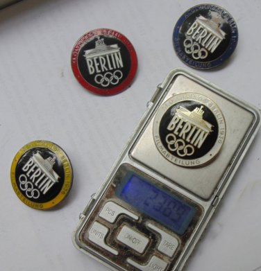 WWII THE GERMAN BADGE  Icons Set Olympic Games Berlin 1936