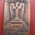 WW II THE GERMAN BADGE memorial sign Gautag Schlesien 25-27.10.33