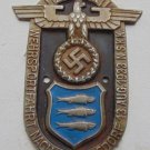 WWII THE GERMAN BADGE  Plaque  Wehrsport Fahrt Nach Heringsdorf
