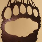 Bear Track Metal Wall Art Home Decor