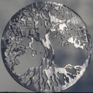 "Tree of Life Metal Wall Art Home Decor 24"" Polished Silver"