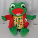 """Read & Sing Little Leap Interactive Learning Frog 17"""" Plush Stuffed Animal Toy"""