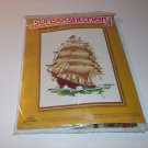 Vintage Sunset Stitchery Embroidery Kit Before The Wind Ship Ocean