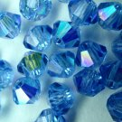 50 bicone beads zche Sapphire AB 4mm