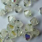 50 bicone beads zche Jonquille AB 4mm