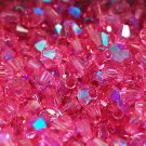 50 bicone beads zche Rose AB 4mm