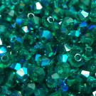 50 bicone beads zche Emerald AB 3mm