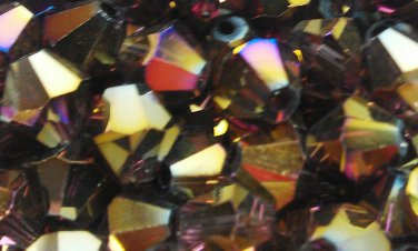 50 bicone beads 6 mm Burgundy AB