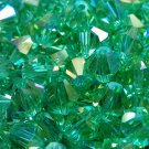 50 bicone beads 6 mm Lite Chrysolite AB
