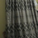 DRESS/LONG DRESS/FADED GLORY/PRE-OWNED/SIZE 16-18/BLACK AND WHITE GEOMETRIC PRNT