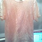 BLOUSE/TOP/LADIES/PINK/LG/VIA B'WAY/SCROLL DESIGN/VINTAGE/UNWORN/3X/SMALL 3X