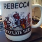 MUG/HERSHEY'S/CHOCOLATE/CHOCOLATE WORLD/MINT/UNUSED/PRE-OWNED/REBECCA/NAMED/MUG