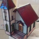 LAMP/HOLIDAY/CHRISTMAS/TIFFANY HOUSE LAMP/CHURCH LAMP/NIB/LIT SOURCE,INC.