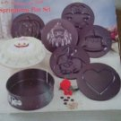Springform Pan Set 8-Pc. Holiday Non-Stick Pan Set. With non stick design tops/