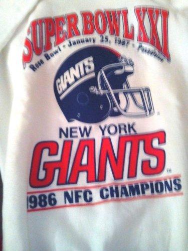 GIANTS/FOOTBALL/SWEATSHIRT/SUPER BOWL XXI 1987/GIANTS/NFC CHAMPIONS/TRENCH LG