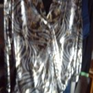 LADIES/TOP/SHIRT STYLE BLOUSE/VINTAGE/COPY CATS/MED/MADE USA/100%POLY/LNG.SLV.