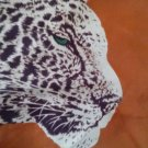"SCARF/NECKWEAR/22""/VINTAGE/FAMILY ESTATE SCARF/40'S 50'S/RUST & ANIMAL PRINT"