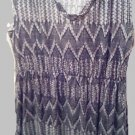 Dress Full Length Faded Glory XL 16-18 Black White Gray - Exlnt. Cnd.  SALE