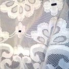 Valance Curtain Vintage 1940'50'S White Curtain Very Good  Pre-Owned Condition.