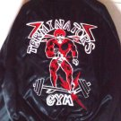 Jacket Custom Jacket Terminators Gym Black W Red Embroidered Design LG. EUC/M-L