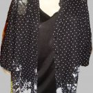 "Blouse Floral ""Sag Harbor"" Black & White Polka Dots & Flowers 2X 2 Piece Attach"