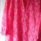 Blouse  Floral  Watermelon Red & White  Pre-Owned Sag Harbor  Mint   2 XL