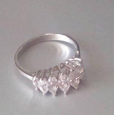 Ring Cubic Zirconia Anniversary 7 Stone Brilliant Size 6 Jewelry Ring