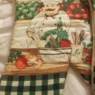 "OVEN MITTS - PAIR OF RIGHT HAND OVEN MITTS TUSCAN STYLE ITALIAN CHEF 13"" NEW"