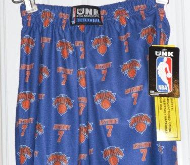 NBA Anthony Knicks Lounge Pant or Sleepwear Boys/Unisex Sz.4 UNK Official