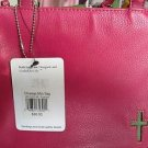 HANDBAG PURSE CHRISTIAN MINI BAG ROLF'S GENUINE LEATHER CROSS ON FRONT FUSCHIA