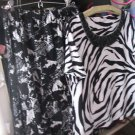 Dress JM Collection 2 Piece Dress Outfit Black & White SZ. SM TO MED CLASSY