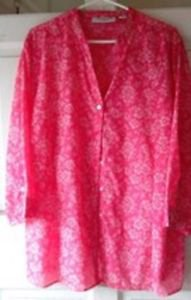 Blouse  Floral  Watermelon Red & White  Pre-Owned Sag Harbor  Mint   2 XL NICE