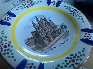 CHURCH CATHEDRAL ITALY ORVIETO IL DUOMO OLD CATHEDRAL IN UMBRIA ITALY HAND PAINT
