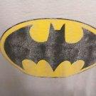 BATMAN T-SHIRT XL DISTRESSED BAT LOGO UNIQUE UNCOMMON BATMAN TEE DC COMICS GREY