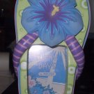 "BEACH OCEAN SUMMER COASTAL NAUTICAL FRAME SMALL FLIP FLOP 1 1/2"" X 2"" PHOTO SLOT"