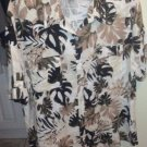 Blouse Shirt By White Stag Beiges Browns Tans Blacks White island Style 2x
