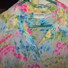 Blouse Alfred Dunner Crinkle Material 16W Floral Multi Colored Print Top
