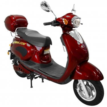 Daymak Rome 500W 72V Electric Bicycle Electric Bike E-Bike eBike Moped Burgundy Free Shipping
