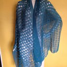 Stunning Simply Vera Wang Cut Out Circles Sheer Scarf Shawl Jade 75x25