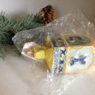1996 Christopher Radko Glass Dreidel Ornament Hanukkah Jewish Hand Blown NIP