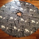 vtg 50s Circle Skirt Dramatic Dark Spooky Mansion Tree Novelty Print Halloween S