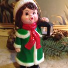 vtg 1982 Carolites Lighted Musical Caroller w/box Christmas Ornament Figurine
