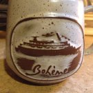 vtg Goss Boheme Cruise Ship Freewinds Speckled Stoneware Mug Coffee Cup Vermont