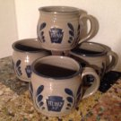 Westerwald Heinz 57 Promo Mugs Set/4 Salt Glazed Stoneware Pottery Soup Cups